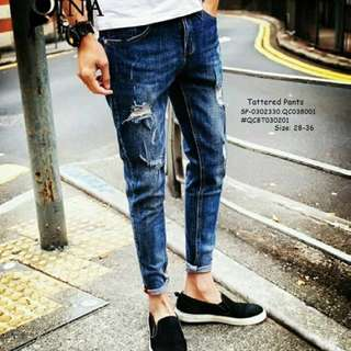 Tattered pants size : 28-38