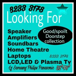 Wanted plasma tv, LCD tv, led tv, smart rv