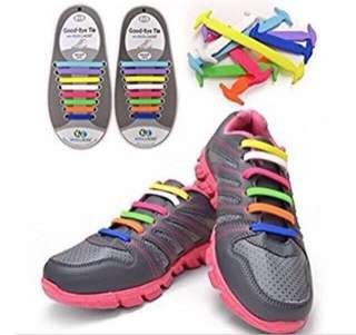 Silicon Rubber Shoes Laces  - Easy On & Off No More Tying Laces - Save Time & Effort Comfortable When Running Or Walking Waterproof And Easy To Clean  Available in Many Colors!   Free Delivery! (Min 2 packets)
