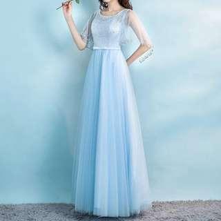 Baby blue elegant dress / Evening Gown