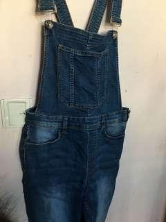 H&M深色牛仔工人褲