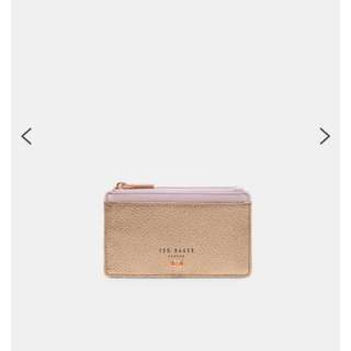 Ted Baker card coin holder zipped leather