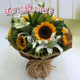 Fresh Flower Bouquet Surprise for Special Anniversary Birthday Gift V58 - UVJCI
