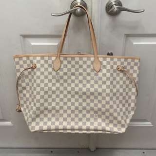 Louis Vuitton White Never Full Tote