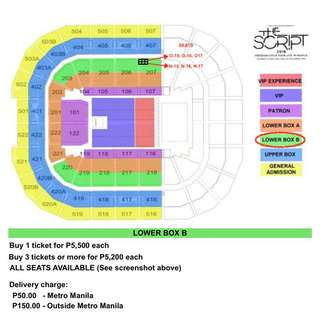The Script Freedom Child LOWER BOX B (6 tickets available)