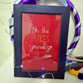 Oh, The Places You Will Go Embroidery Design