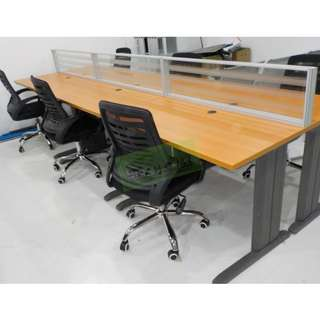 Khomi Furniture SHop - Table w/ screen panel - office chairs