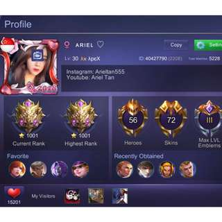Mobile Legend Account All In One Package