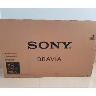 "SONY BRAVIA 43"" W800C TV LED LCD 電視 SMART TV"