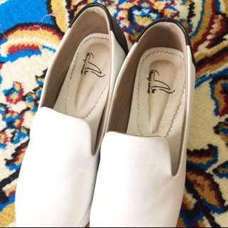 White black shoes