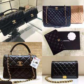 All Chanel Bags & Wallets Below RM1k (Full Counter Authentic Packaging)