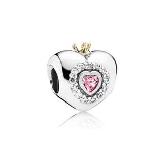 Authentic Pandora Pink Princess Crown Charm