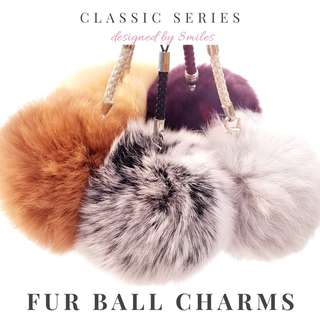 Fur Ball Charms Real Fur - Classic Series
