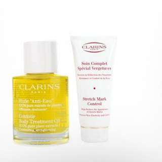 Clarins Stretch Mark 200ml and Clarins Huile Tonic Oil 100ml