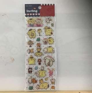 布甸狗貼紙 pompompurin stickers 包郵 including postage