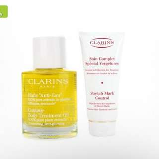 Clarins Stretch Mark 200ml and Huile Tonic Oil 100ml