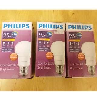 Philips LED 慳電膽 35元一支, 100元三支