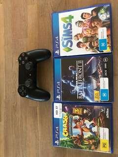 PS4 Dualshock Wireless Controller bundle