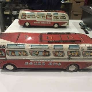 Vintage Japan Tin Toy Bus