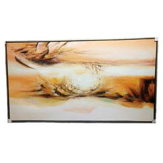 Abstract Framed Oil Painting