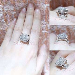 DISKON 50%...Serenity Ring [Rhodium Diamond Amerika]