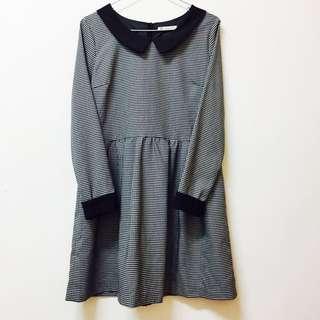 日系專櫃MAJESTIC LEGON 經典黑白格子洋裝