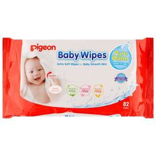 Pigeon Baby Wipes 99% Pure Water 82's