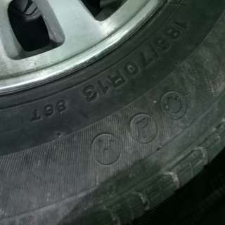 Stock tires ng honda civic sir