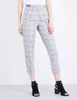 TOPSHOP CHECK MENSY TROUSERS