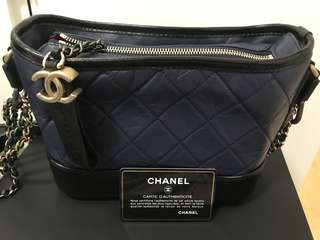 Chanel Gabrielle Hobo Bag small size (blue + black)