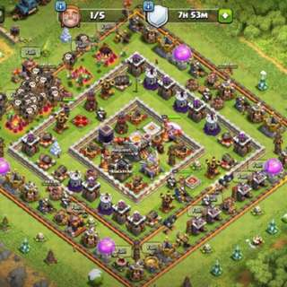 Clash of Clans Max TH11 Player Account
