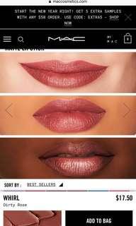MAC Lipstick Mini in shade Whirl