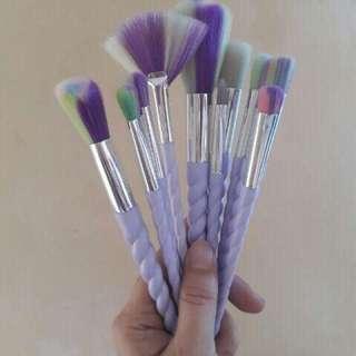 10 pcs. Unicorn Make-Up Brush Set