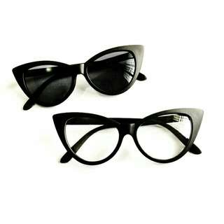 SUPER SALE!! SET OF TWO CAT EYE SUNNIES and SPECS!!