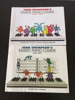 John Thompson's Easiest Piano Course Part one and two