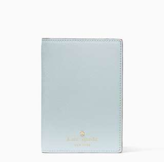 SALE Kate Spade Mikas Pond Passport Holder Island Waters Baby Blue