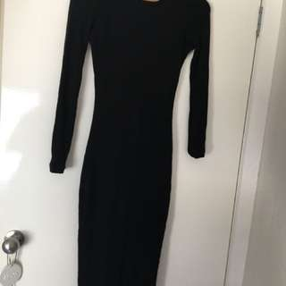 Kookai midi fitted dress size 2