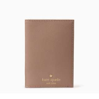SALE Kate Spade Mikas Pond Passport Holder Porcini Brown Beige
