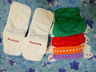 7pcs Baby Diapers Reusable Nappies & 4pcs Training Pants Adjustable Size Children Washable Diapers