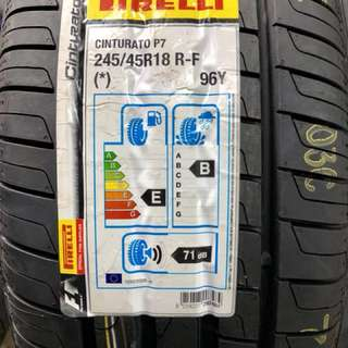 **2018 MEGA SALE!** Brand New Pirelli P7 Run Flat 245/45R18