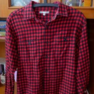Blackred square shirt