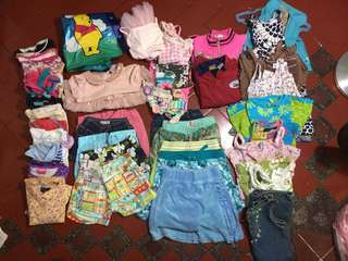 LOT of pre-loved girl's clothes (3-6yo)