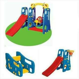 Prosotan Ayunan anak Slide n swing playhouse playground