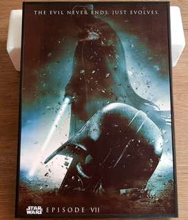 Starwars VII print paint with frame Darth Vader