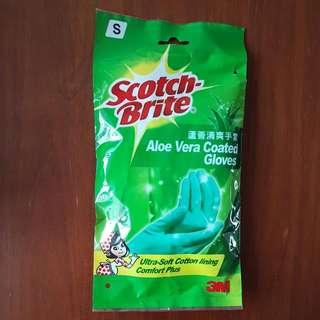 S Size 3M Scotch-Brite Aloe Vera Coated Gloves