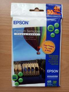 EPSON Premium semigloss photo paper 4R