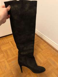Chanel authentic knee high boots