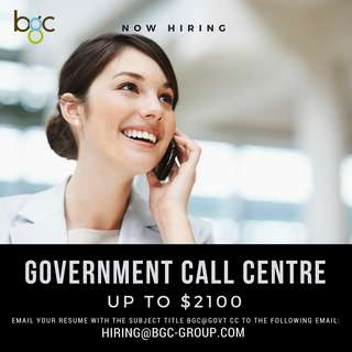 Government Call Center (Up To $2100)