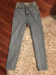 American Apparel High Waisted Mom Jeans size 24