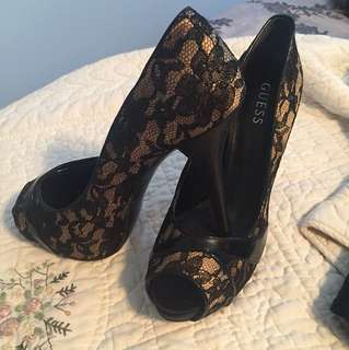 Size 10 Guess Lace High Heels
